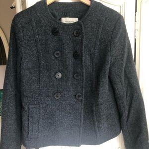 Burberry wool peacoat style fall jacket.